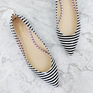 Nine West | Navy White Striped Pointed Flats 11